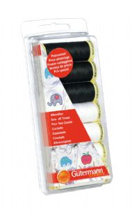 731110\1 Gutermann Thread Set: Sew-All: 7 x 100m: Black & White